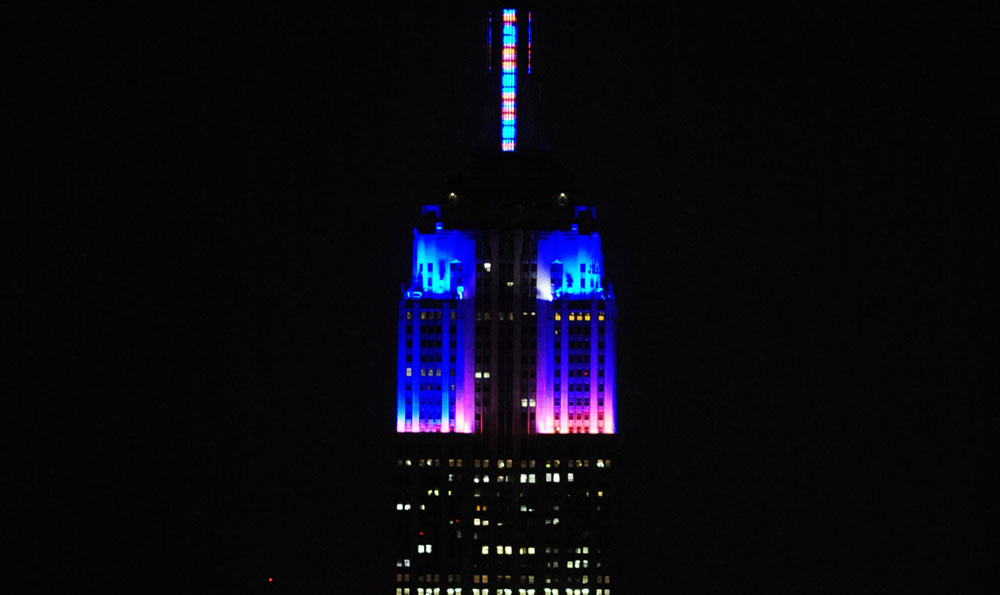 Color Kinetics Empire State Building